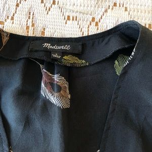 Madewell Tops - MADEWELL Peacock Feather Pattern Belle Blouse
